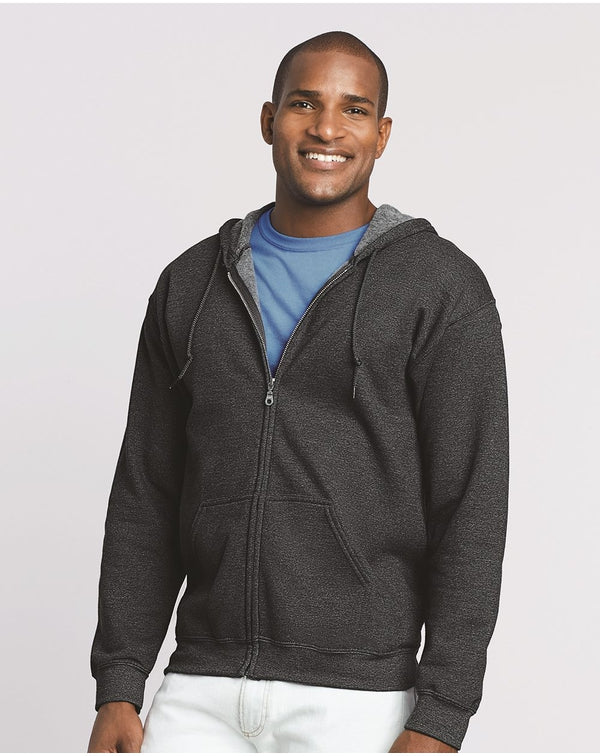 Heavy Blend Full-Zip Hooded SweatShirt-Gildan-Pacific Brandwear