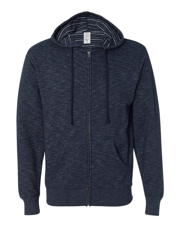 Baja Stripe French Terry Full-Zip Hooded SweatShirt-Independent Trading Co.-Pacific Brandwear