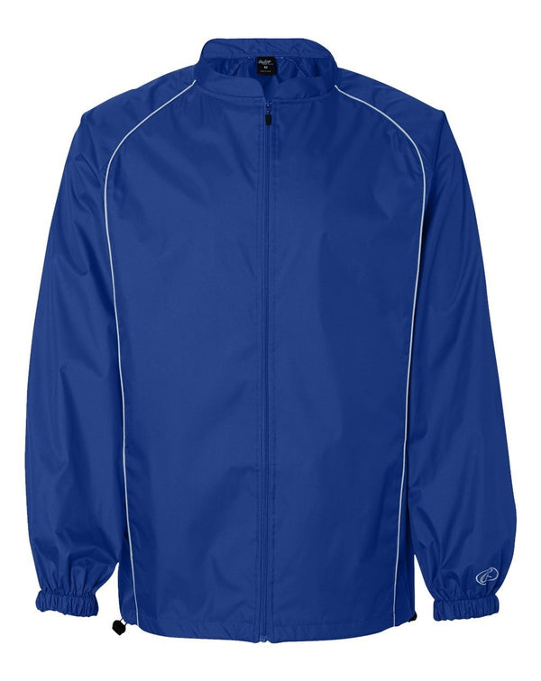 Poly Dobby Full-Zip Jacket-Rawlings-Pacific Brandwear