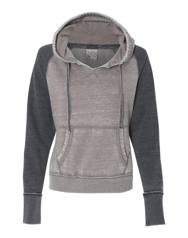 Women's Zen Fleece Raglan Hooded SweatShirt-J. America-Pacific Brandwear