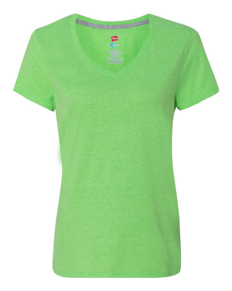 X-Temp Women's V-Neck Short sleeve T-Shirt-Hanes-Pacific Brandwear