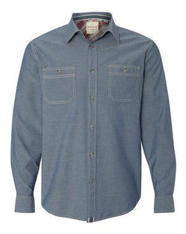 Vintage Chambray Long Sleeve Shirt-Weatherproof-Pacific Brandwear