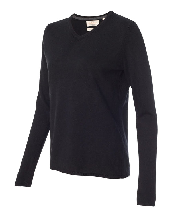 Weatherproof Vintage Women's Cotton Cashmere V-Neck Sweater-Weatherproof-Pacific Brandwear