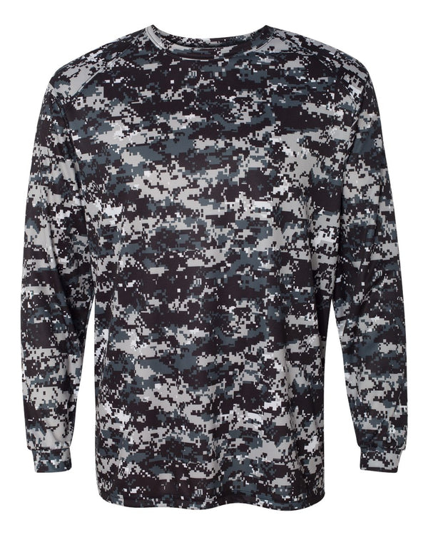 Digital Camo Long sleeve T-Shirt-Badger-Pacific Brandwear