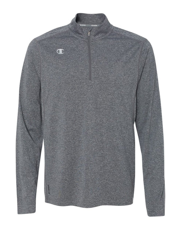 Vapor Performance Heather Quarter-Zip Pullover-Champion-Pacific Brandwear
