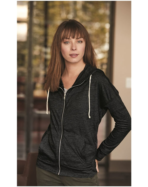 Women's Eco-Jersey Cool Down Hooded Full-Zip-Alternative Apparel-Pacific Brandwear