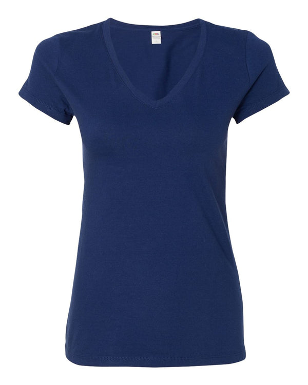 Sofspun Women's V-Neck T-Shirt-Fruit of the Loom-Pacific Brandwear