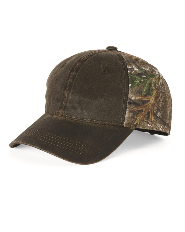 Camo Cap with Weathered Front-Outdoor Cap-Pacific Brandwear