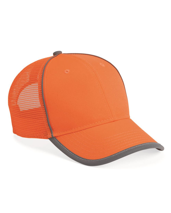 Safety Mesh-Back Cap-Outdoor Cap-Pacific Brandwear