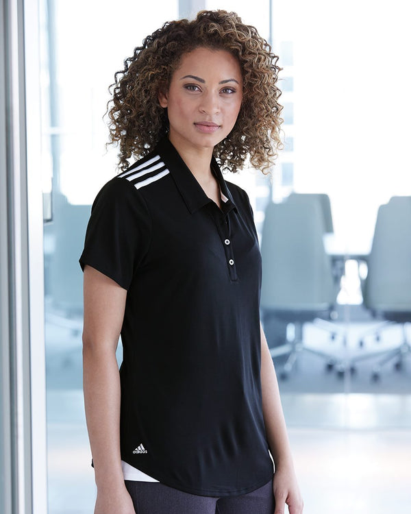 Women's Climacool 3-Stripes Shoulder Sport Shirt-Adidas-Pacific Brandwear