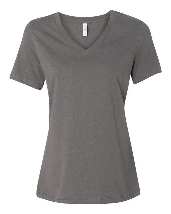 Women's Relaxed Jersey V-Neck Tee-BELLA + CANVAS-Pacific Brandwear