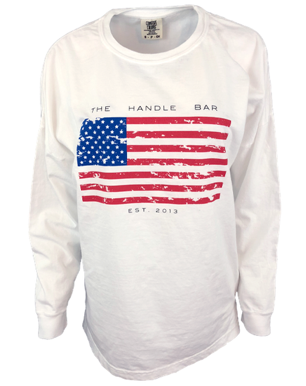 The Handle Bar Flag Long Sleeve-Pacific Brandwear-Pacific Brandwear