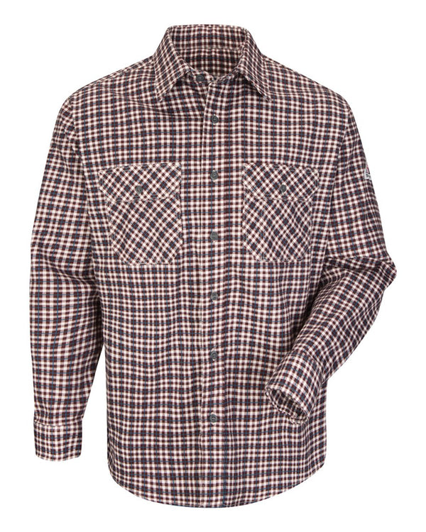 Plaid Long sleeve Uniform Shirt-Bulwark-Pacific Brandwear