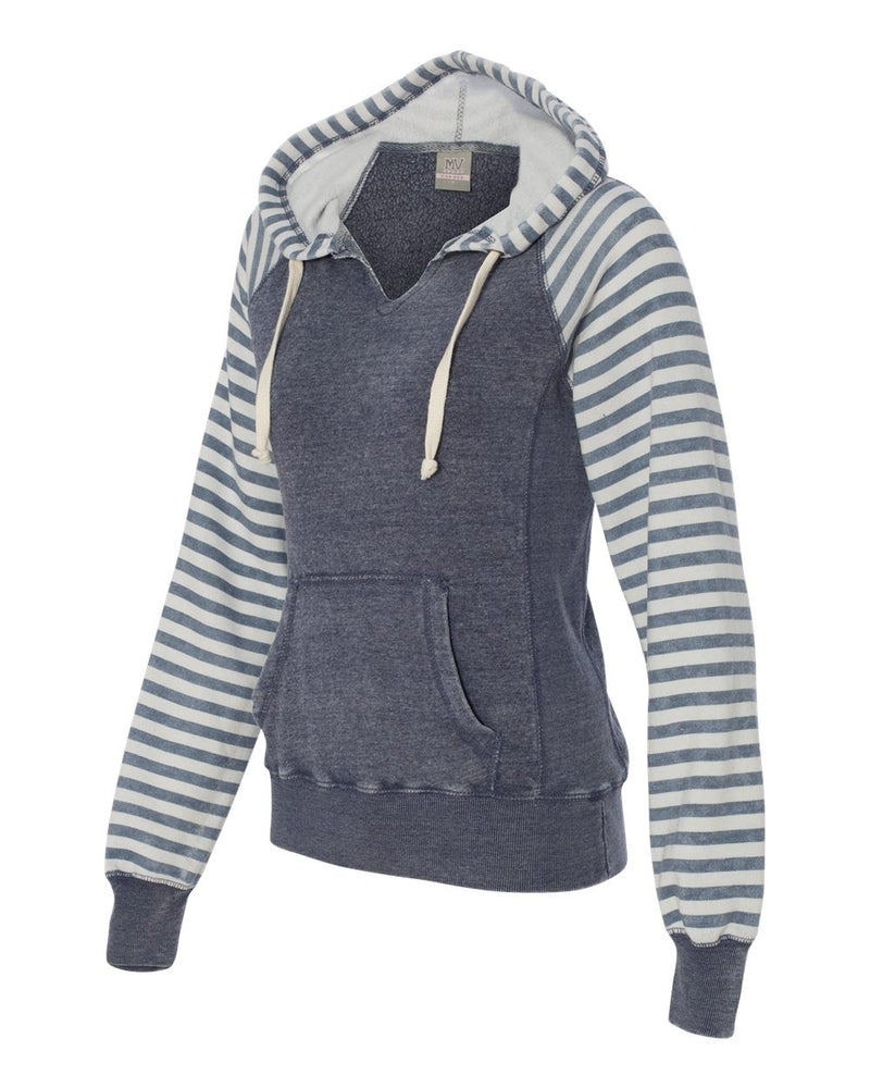 Women's Angel Fleece Sanded Piper Hooded Sweatshirt-MV Sport-Pacific Brandwear