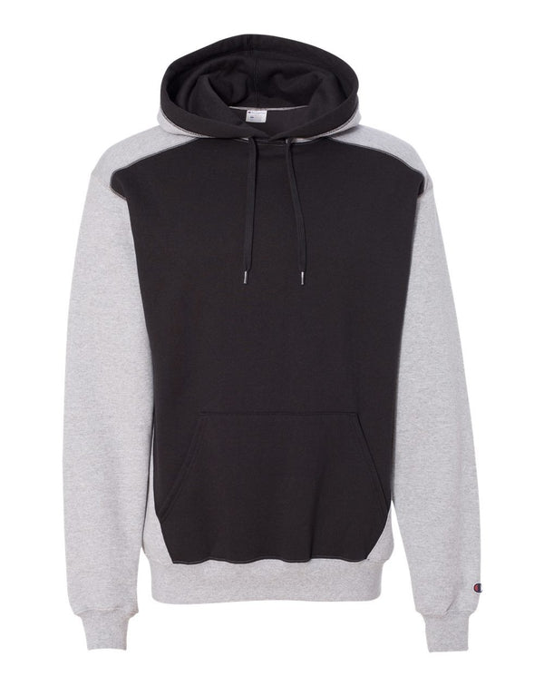 Double Dry Eco Colorblocked Hooded Sweatshirt-Champion-Pacific Brandwear