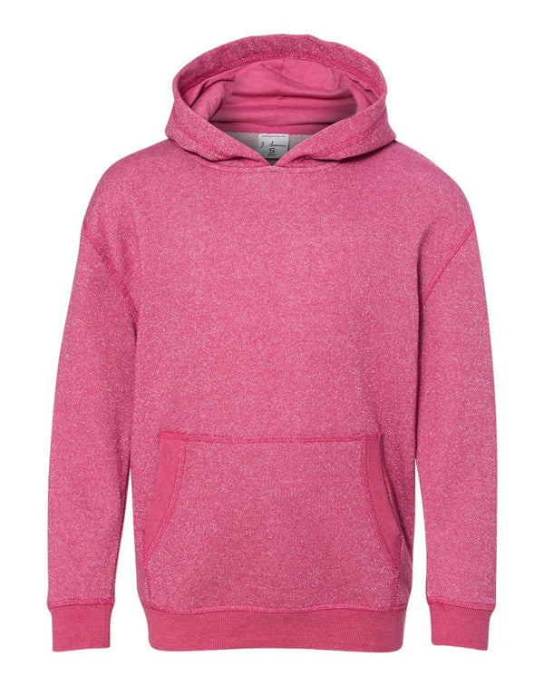 Youth Glitter French Terry Hooded Sweatshirt-J. America-Pacific Brandwear