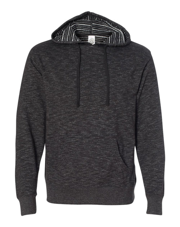 Baja Stripe French Terry Hooded Pullover SweatShirt-Independent Trading Co.-Pacific Brandwear