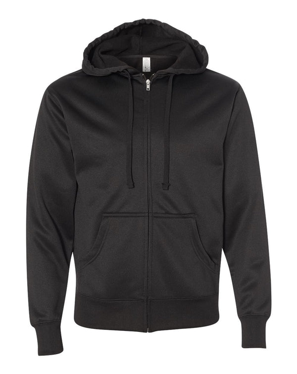 Poly-Tech Hooded Full-Zip SweatShirt-Independent Trading Co.-Pacific Brandwear