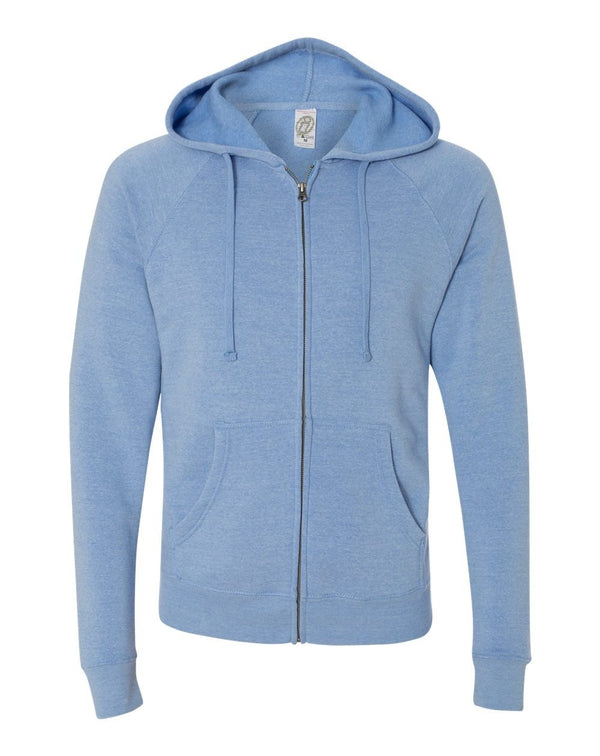 Unisex Special Blend Raglan Full-Zip Hooded Sweatshirt-Independent Trading Co.-Pacific Brandwear