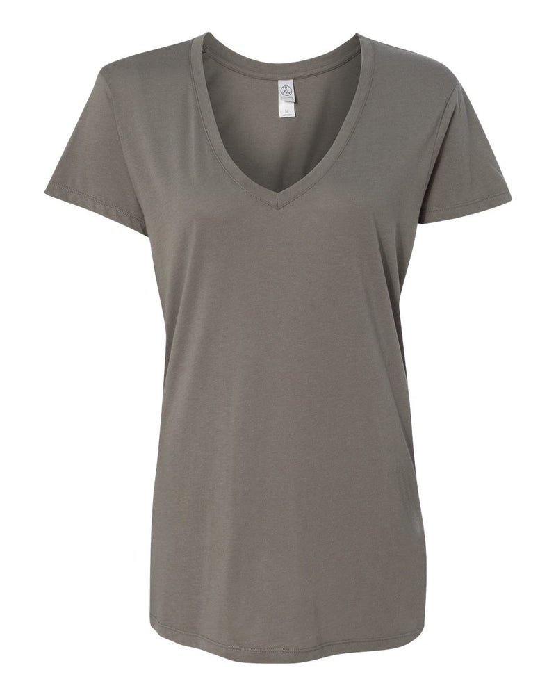 Women's Cotton Modal Everyday V-Neck T-Shirt-Alternative Apparel-Pacific Brandwear