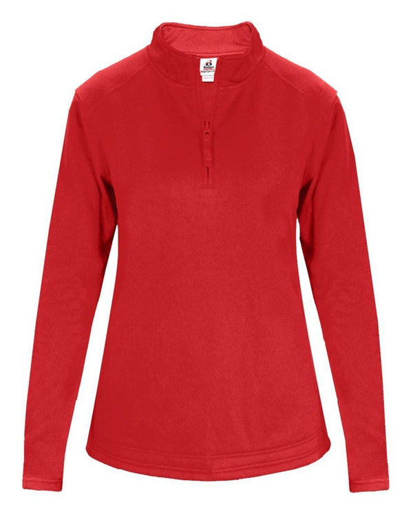 Women's Quarter-Zip Poly Fleece Pullover-Badger-Pacific Brandwear
