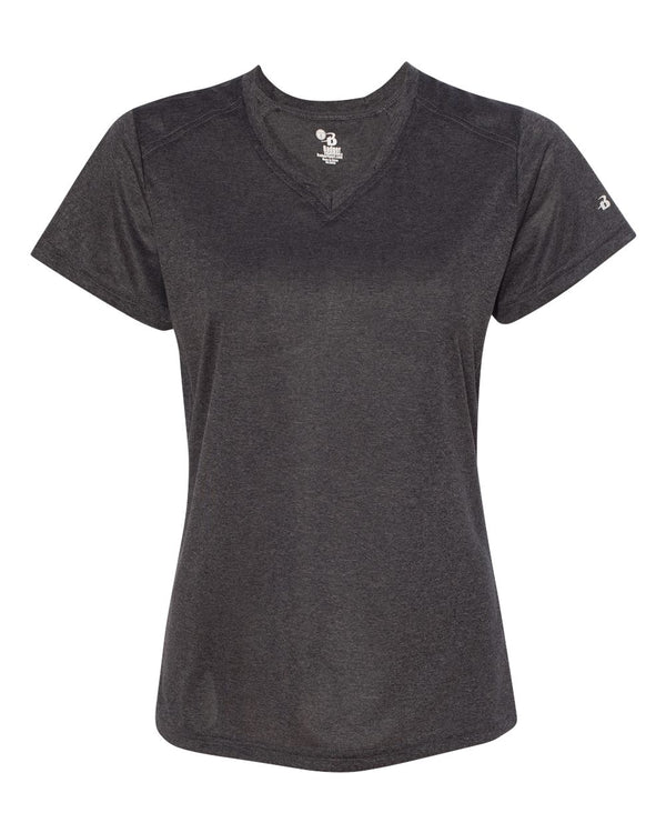 Women's Pro Heather V-Neck T-Shirt-Badger-Pacific Brandwear