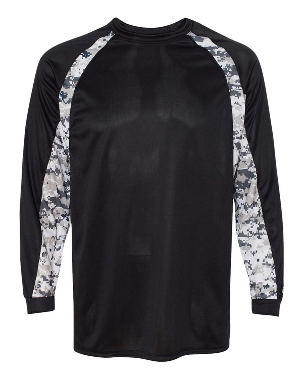 Digital Camo Hook Long sleeve T-Shirt-Badger-Pacific Brandwear