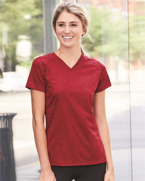 Women's Tonal Blend V-Neck T-Shirt-Badger-Pacific Brandwear