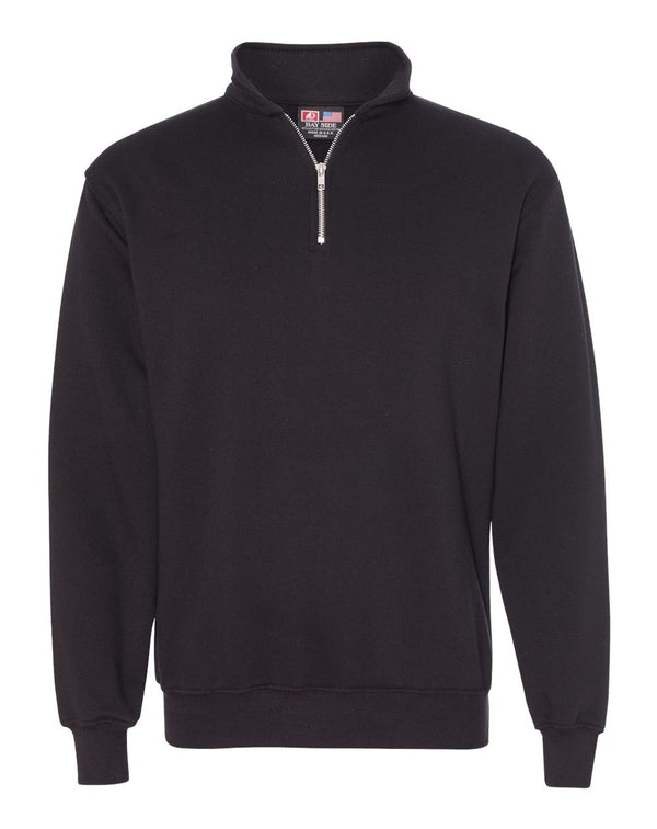 USA-Made Quarter-Zip Pullover Sweatshirt-Bayside-Pacific Brandwear