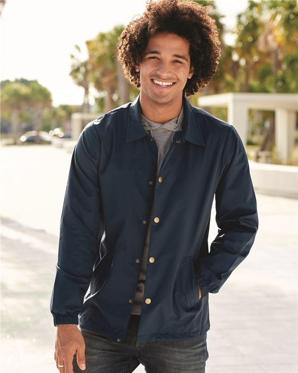 Water-Resistant Windbreaker Coach's Jacket-Independent Trading Co.-Pacific Brandwear