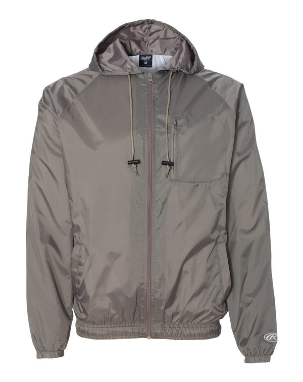 Full-Zip Hooded Wind Jacket-Rawlings-Pacific Brandwear