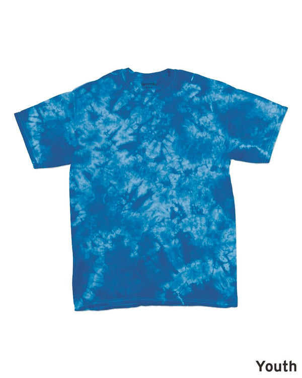 Youth Crystal Tie Dye T-Shirt-Dyenomite-Pacific Brandwear