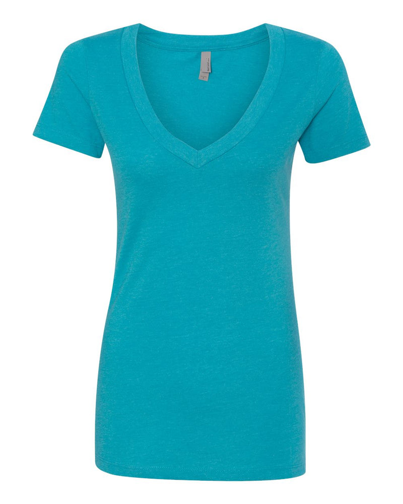 Women's CVC Short sleeve Deep V-Next Level-Pacific Brandwear