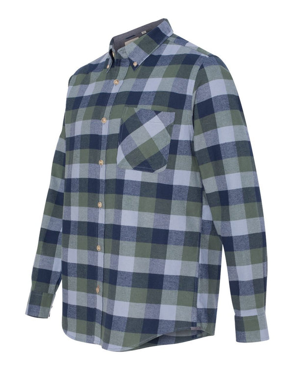 Weatherproof Vintage Brushed Flannel Long Sleeve Shirt-Weatherproof-Pacific Brandwear