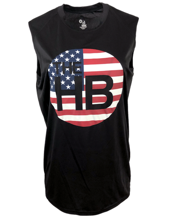 The Handle Bar Flag Muscle Tank-Pacific Brandwear-Pacific Brandwear