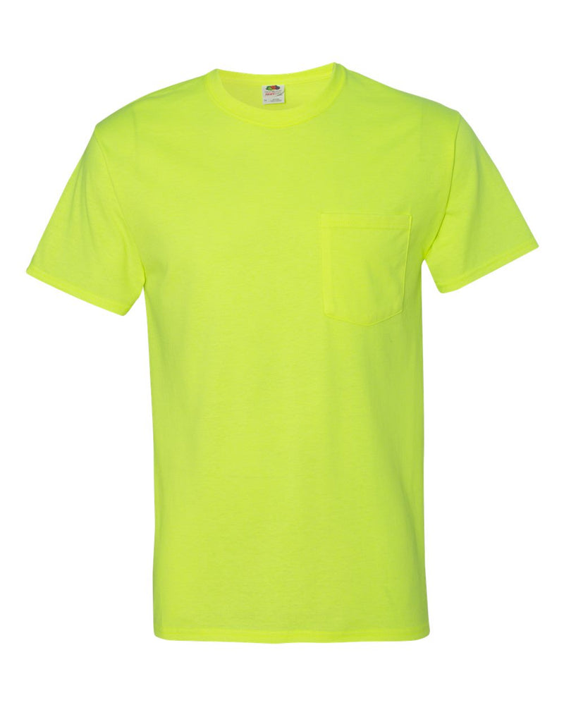HD Cotton T-Shirt with a Pocket-Fruit of the Loom-Pacific Brandwear