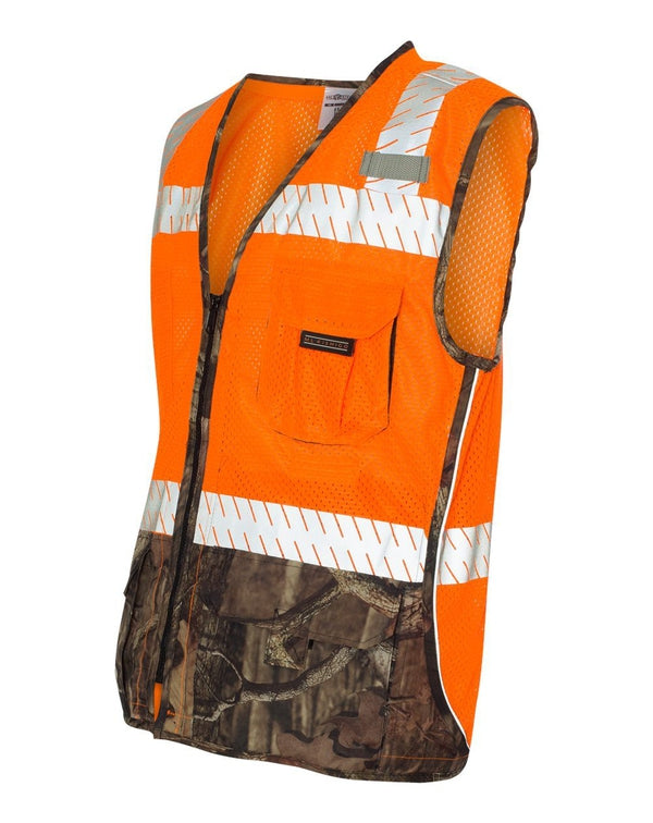 Premium Brilliant Series Mossy Oak Camo Class 2 Vest-ML Kishigo-Pacific Brandwear