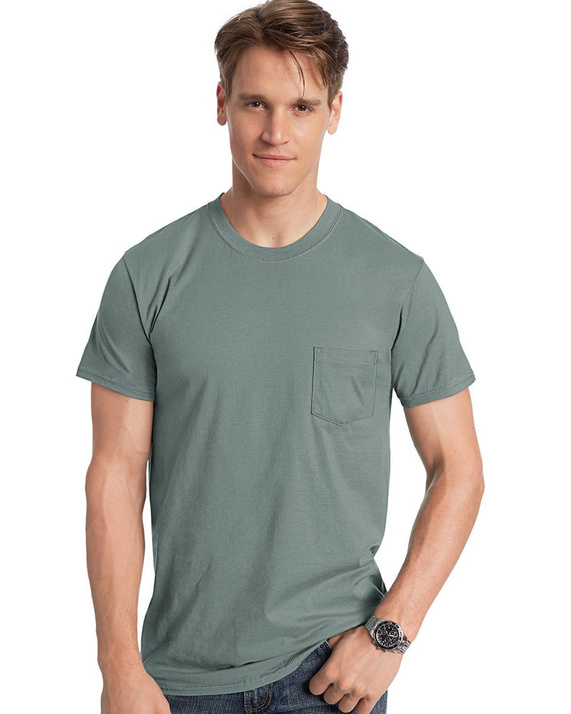 Nano-T Pocket T-Shirt-Hanes-Pacific Brandwear
