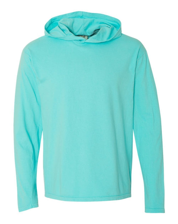 Garment-Dyed Heavyweight Hooded Long sleeve T-Shirt-Comfort Colors-Pacific Brandwear