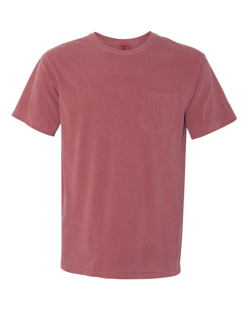 Garment-Dyed Heavyweight Pocket T-Shirt-Comfort Colors-Pacific Brandwear