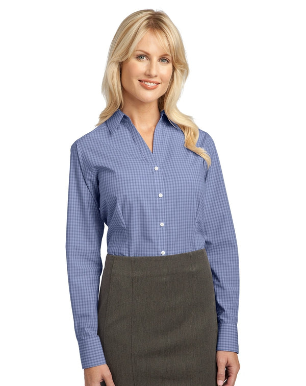 Port Authority® Ladies Plaid Pattern Easy Care Shirt-Port Authority-Pacific Brandwear