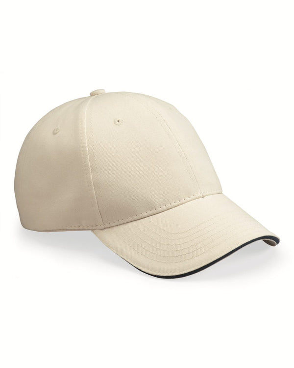 USA-Made Brushed Twill Cap-Bayside-Pacific Brandwear