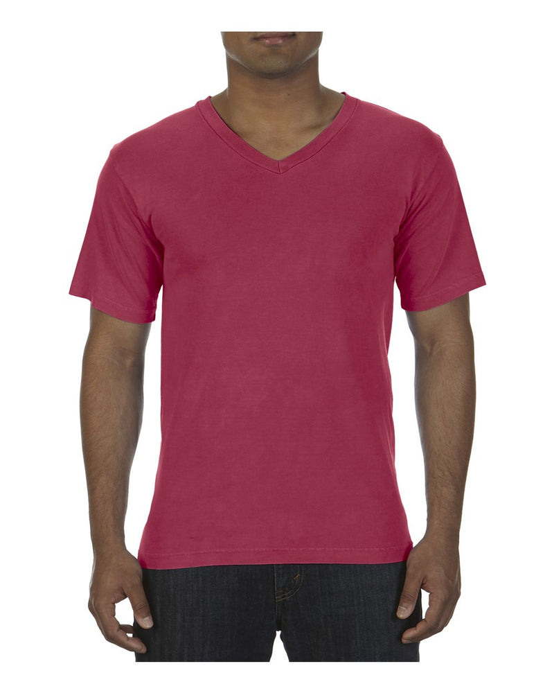 Garment-Dyed Ringspun V-Neck T-Shirt-Comfort Colors-Pacific Brandwear