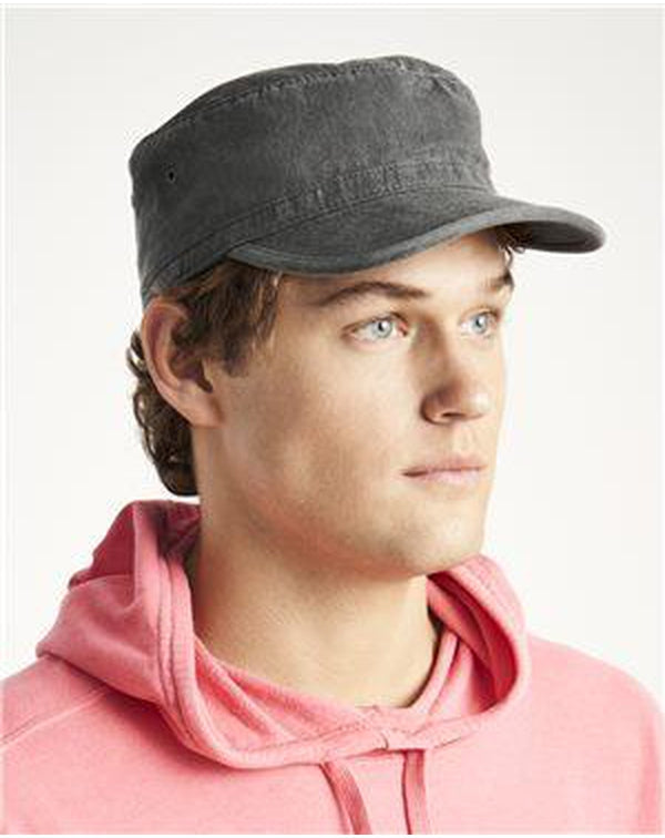 Canvas Cafe Cap-Comfort Colors-Pacific Brandwear