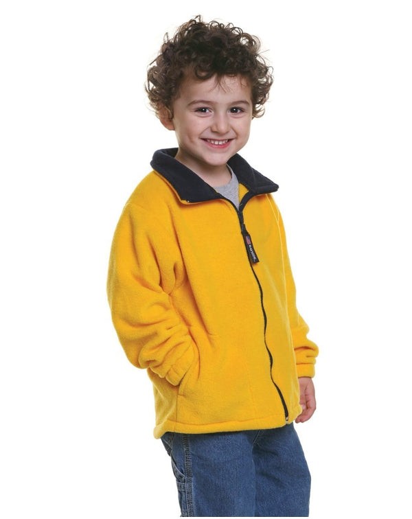 Youth USA-Made Full-Zip Fleece Jacket-Bayside-Pacific Brandwear