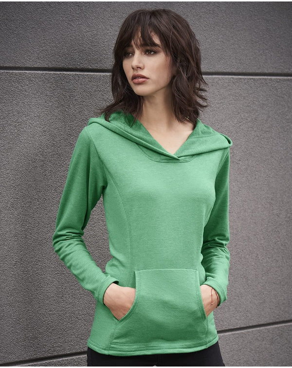 Women's Hooded French Terry Pullover-Anvil-Pacific Brandwear