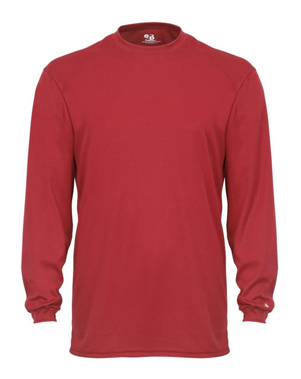 Youth B-Core Long sleeve T-Shirt-Badger-Pacific Brandwear