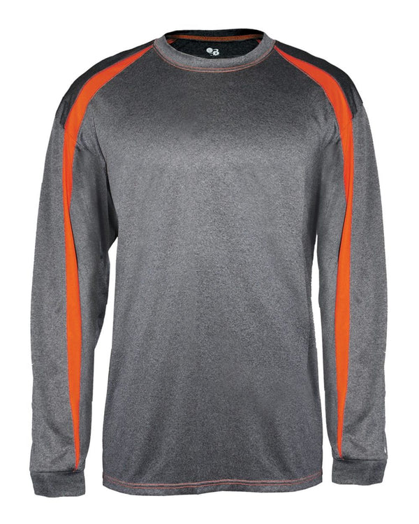 Pro Heather Fusion Long sleeve T-Shirt-Badger-Pacific Brandwear