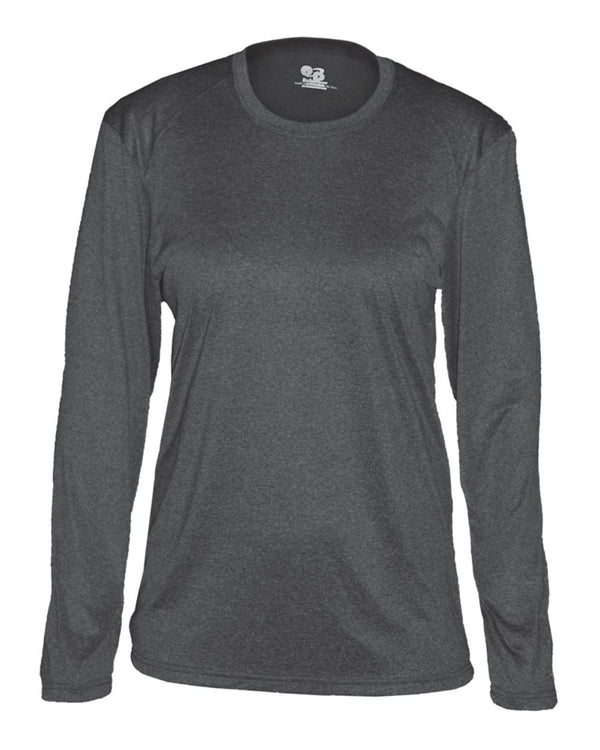 Women's Pro Heather Long sleeve T-Shirt-Badger-Pacific Brandwear