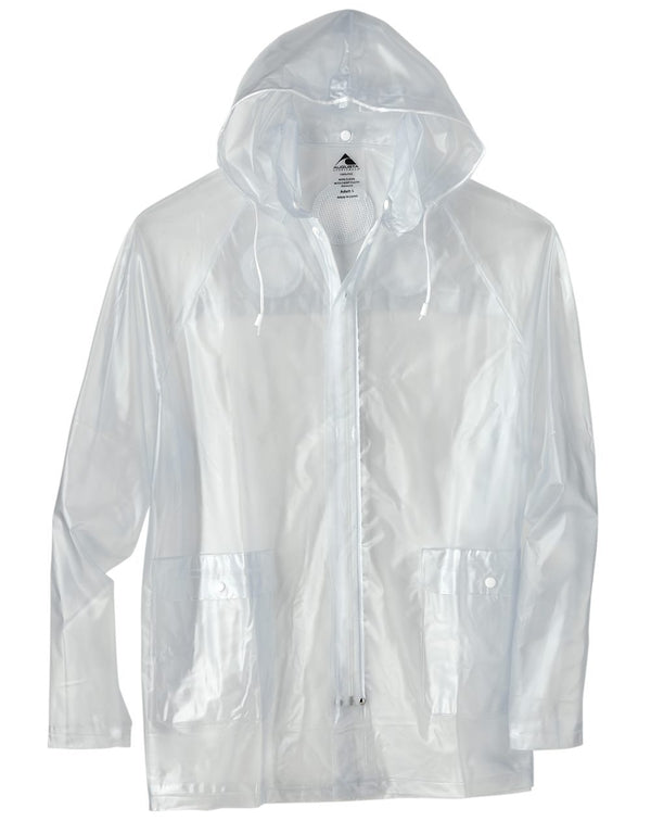 Clear Hooded Rain Jacket-Augusta Sportswear-Pacific Brandwear